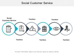 Social Customer Service Ppt Powerpoint Presentation Gallery Clipart Images Cpb