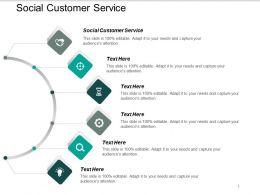 Social Customer Service Ppt Powerpoint Presentation Summary Design Ideas Cpb