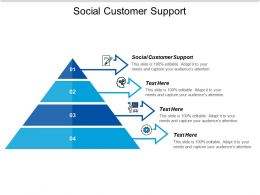 Social Customer Support Ppt Powerpoint Presentation Styles Pictures Cpb