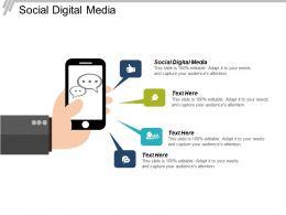 Social Digital Media Ppt Powerpoint Presentation File Graphics Tutorials Cpb