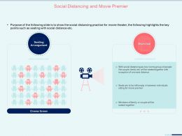 Social Distancing And Movie Premier Family Couple Ppt Presentation Styles