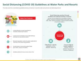 Social Distancing COVID 19 Guidelines At Water Parks And Resorts Rides Ppt Powerpoint Presentation Styles Tips