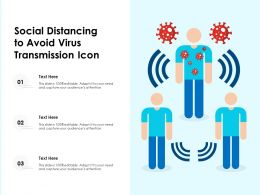 Social Distancing To Avoid Virus Transmission Icon