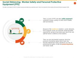 Social Distancing Worker Safety And Personal Protective Equipment PPE Treat Ppt Powerpoint Presentation Skills