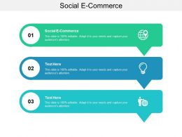 Social E Commerce Ppt Powerpoint Presentation Ideas Icon Cpb