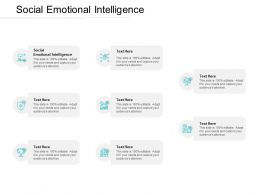 Social Emotional Intelligence Ppt Powerpoint Presentation Outline Guide Cpb