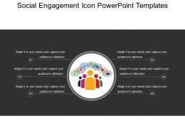 Social Engagement Icon Powerpoint Templates