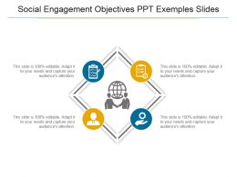 Social Engagement Objectives Ppt Examples Slides