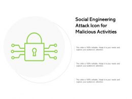 Social Engineering Attack Icon For Malicious Activities