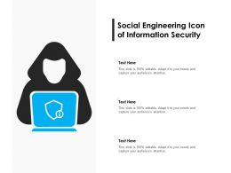 Social Engineering Icon Of Information Security