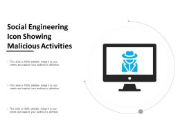 Social Engineering Icon Showing Malicious Activities