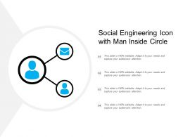Social Engineering Icon With Man Inside Circle