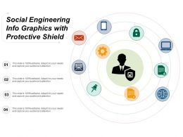 Social Engineering Info Graphics With Protective Shield