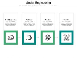 Social Engineering Ppt Powerpoint Presentation Summary Introduction Cpb