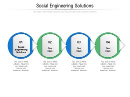 Social Engineering Solutions Ppt Powerpoint Presentation Model Cpb