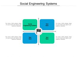 Social Engineering Systems Ppt Powerpoint Presentation Professional Samples Cpb