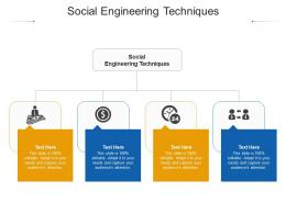 Social Engineering Techniques Ppt Powerpoint Presentation Slides Example Introduction Cpb