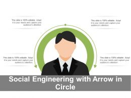 Social Engineering With Arrow In Circle