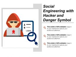 Social Engineering With Hacker And Danger Symbol