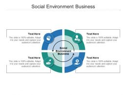 Social Environment Business Ppt Powerpoint Presentation Infographics Shapes Cpb