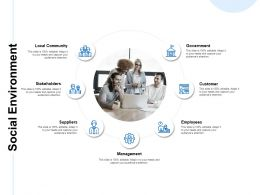 Social Environment Local Community Customer Ppt Powerpoint Presentation Infographics Summary