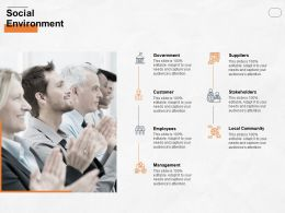 Social Environment Local Community Ppt Powerpoint Presentation Icon Deck