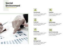 Social Environment Ppt Powerpoint Presentation File Master Slide