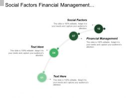 Social Factors Financial Management Organizational Performance Due Study Participation
