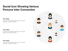 Social Icon Showing Various Persons Inter Connection