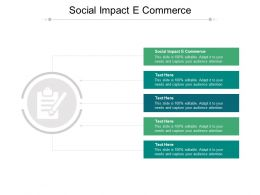 Social Impact E Commerce Ppt Powerpoint Presentation Layouts Themes Cpb