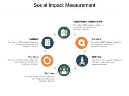 Social Impact Measurement Ppt Powerpoint Presentation File Samples Cpb