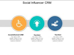 Social Influencer CRM Ppt Powerpoint Presentation Model Visual Aids Cpb