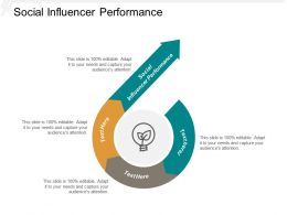 Social Influencer Performance Ppt Powerpoint Presentation Model Visuals Cpb
