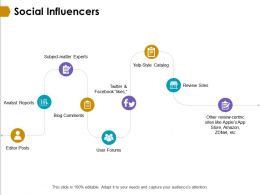 Social Influencers Analyst Reports Ppt Powerpoint Presentation Model Microsoft