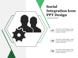 Social Integration Icon Ppt Design