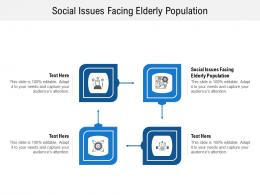 Social Issues Facing Elderly Population Ppt Powerpoint Presentation Summary Graphics Design Cpb