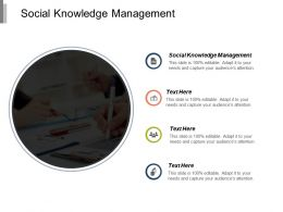Social Knowledge Management Ppt Powerpoint Presentation Icon Design Templates Cpb