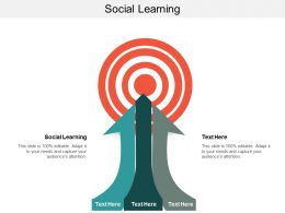 Social Learning Ppt Powerpoint Presentation Gallery Graphics Cpb