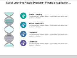 Social Learning Result Evaluation Financial Application Accounting Database