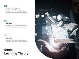 Social Learning Theory Ppt Powerpoint Presentation Model Sample Cpb