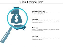 Social Learning Tools Ppt Powerpoint Presentation Gallery Designs Cpb