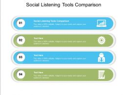 Social Listening Tools Comparison Ppt Powerpoint Presentation Ideas Topics Cpb