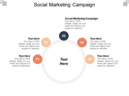 Social Marketing Campaign Ppt Powerpoint Presentation Design Templates Cpb