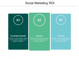 Social Marketing ROI Ppt Powerpoint Presentation Infographics Elements Cpb