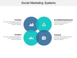 Social Marketing Systems Ppt Powerpoint Presentation Slides Mockup Cpb