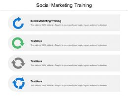 Social Marketing Training Ppt Powerpoint Presentation Ideas Slides Cpb