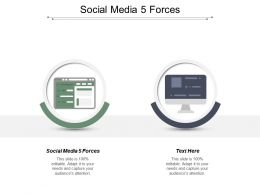 Social Media 5 Forces Ppt Powerpoint Presentation Infographic Template Shapes Cpb
