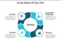 Social Media 90 Day Plan Ppt Powerpoint Presentation Styles Maker Cpb