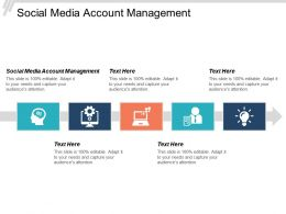 Social Media Account Management Ppt Powerpoint Presentation Gallery Graphic Tips Cpb