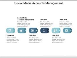 Social Media Accounts Management Ppt Powerpoint Presentation Slides Inspiration Cpb